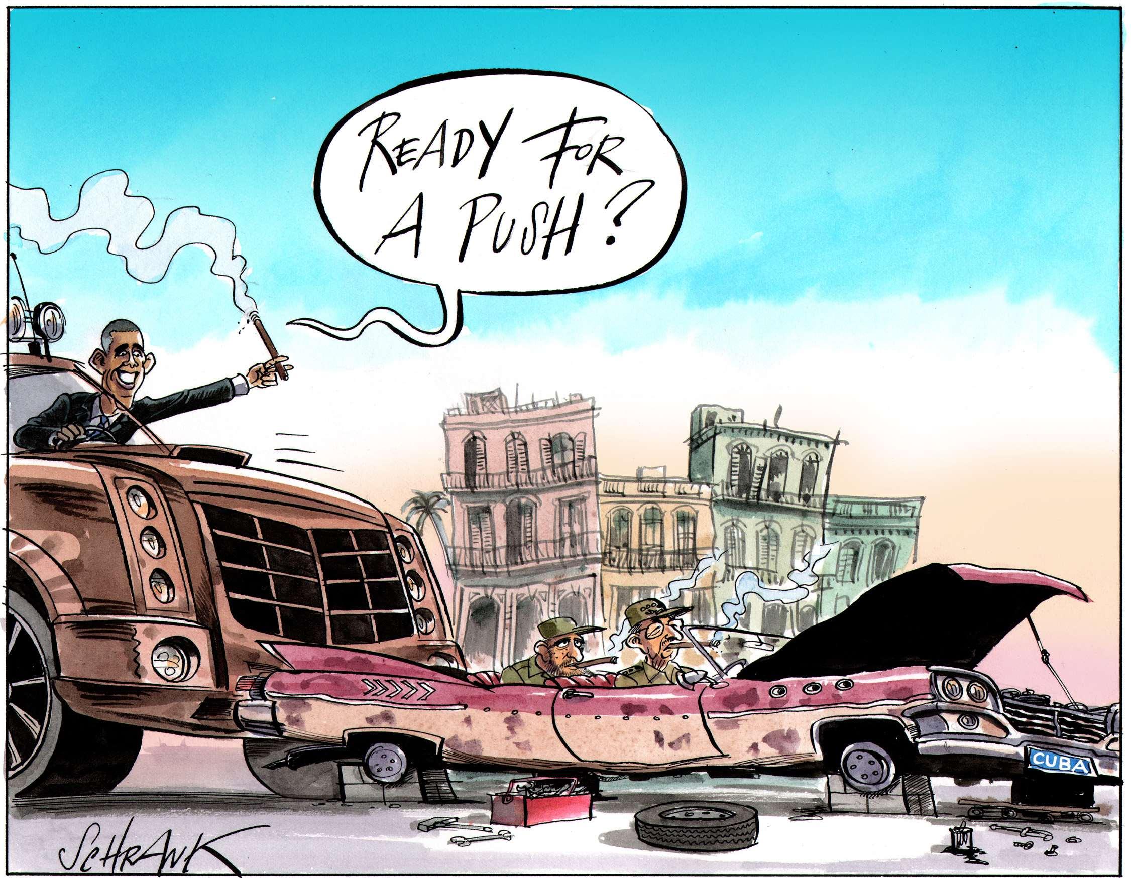 Cartoons e sharp for Schrank cuba